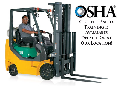 OSHA Certified Training Available