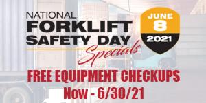 free material handling equipment checkups now thru 06/30/21