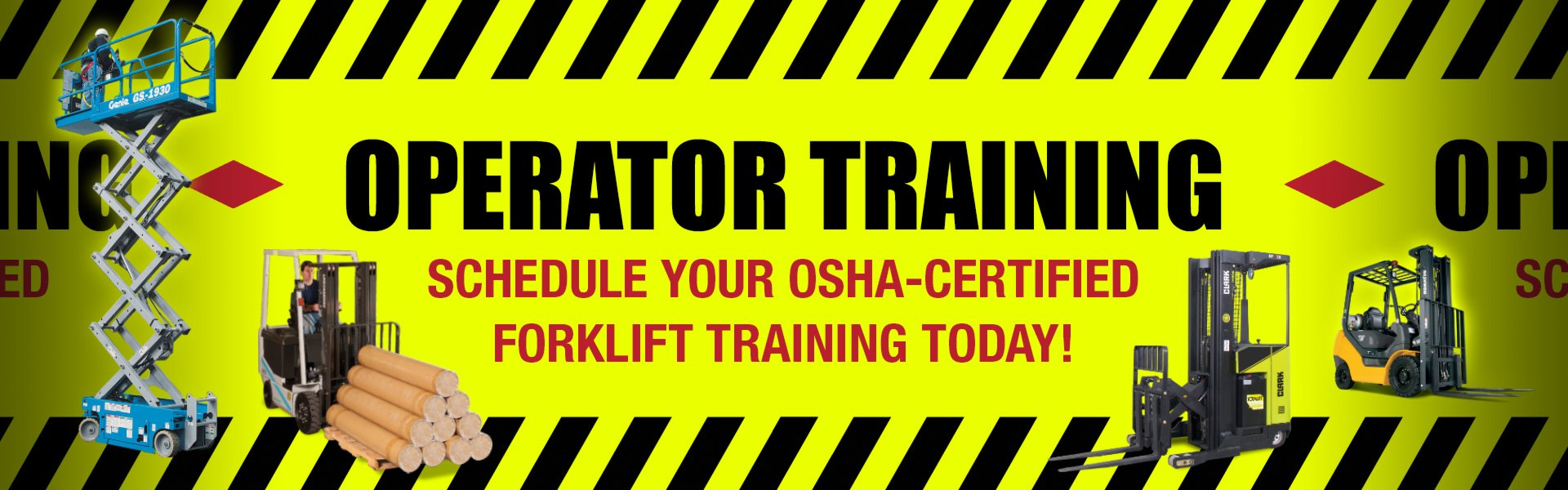 Operator Safety Training - Schedule your OSHA-certified forklift operator training today.