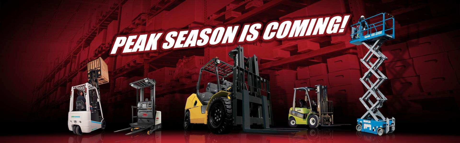 Peak Rental Season Is Coming For Forklifts & Material Handling Equipment