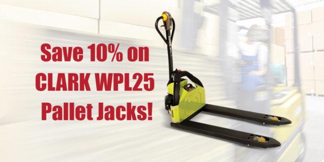 Clark WPL25 Pallet Jacks for ONLY 2,610