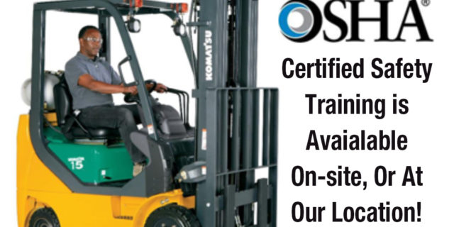 OSHA certified safety training for equipment operators
